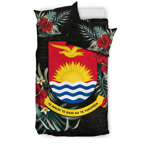 Kiribati Hibiscus Coat Of Arms Bedding Set Queen