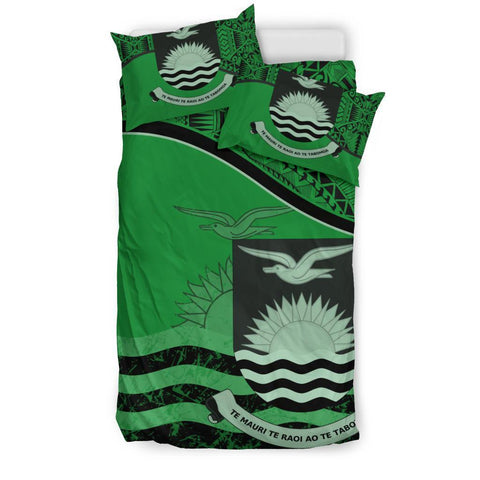 Kiribati Bedding Set Green Twin