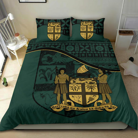 Fiji Bedding Set Dark Green A24