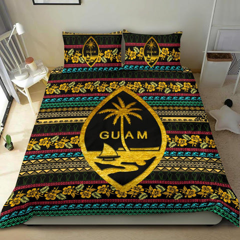 Image of Polynesian Bedding Set Guam Pattern Duvet Cover Set