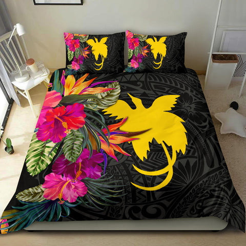 Image of Papua New Guinea Bedding Set - Hibiscus Polynesian Pattern - BN39