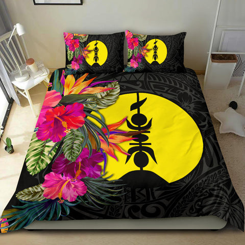 Image of New Caledonia Bedding Set - Polynesian Hibiscus Pattern - BN39