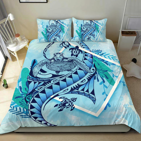 Polynesian Patterns Turtle Under The Sea Bedding Set - BN01