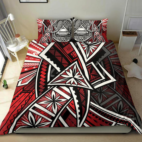 American Samoa Bedding Set - Tribal Flower Special Pattern Red Color - BN20