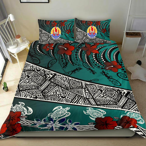 Tahiti Bedding Set - Lizard And Turtle Green - BN20