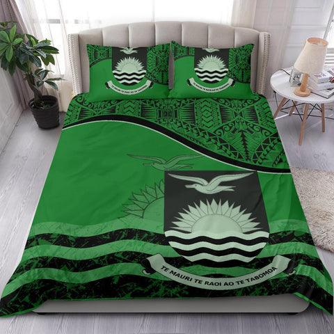 Kiribati Bedding Set Green A24