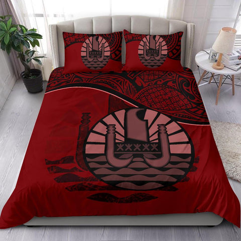 Image of Tahiti Bedding Set Red A24