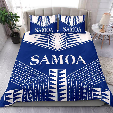 Samoa Coat of Arms Bedding Set - Blue Version