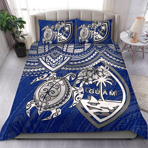 Guam Polynesian Bedding Set - White Turtle