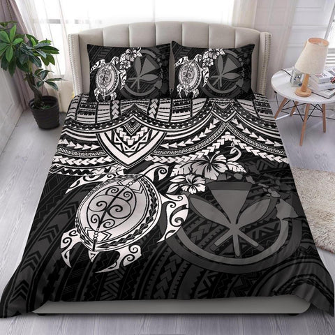 Polynesian Hawaii Bedding Set - White Turtle