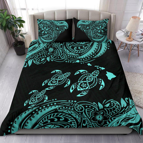 Hawaii Polynesian Bedding Set - Blue Sea Turtle