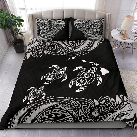 Hawaii Polynesian Bedding Set - White Sea Turtle
