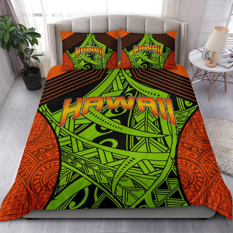 Polynesian Bedding Set - Hawaii Duvet Cover Set Tribal Wave