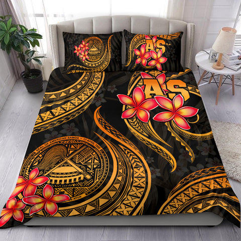 Image of Polynesian Bedding Set - American Samoa Plumeria Duvet Cover Set