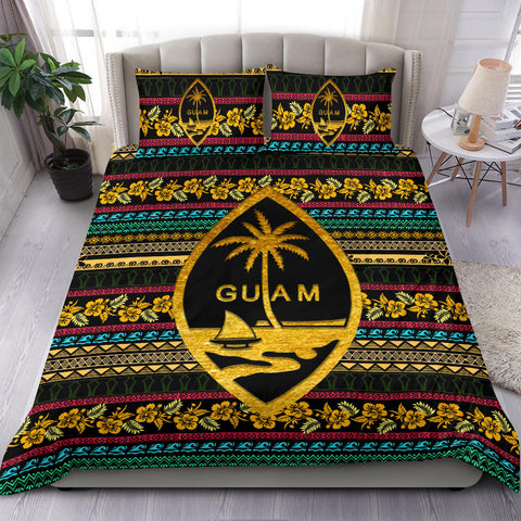 Image of Polynesian Bedding Set Guam Pattern Duvet Cover Set - BN39