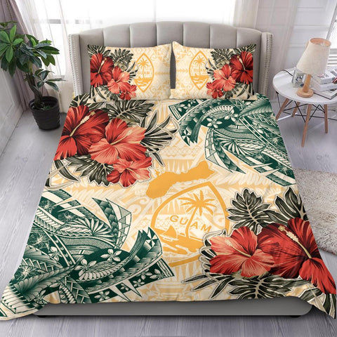 Image of Guam Bedding Set - Polynesian Hibiscus Flowers