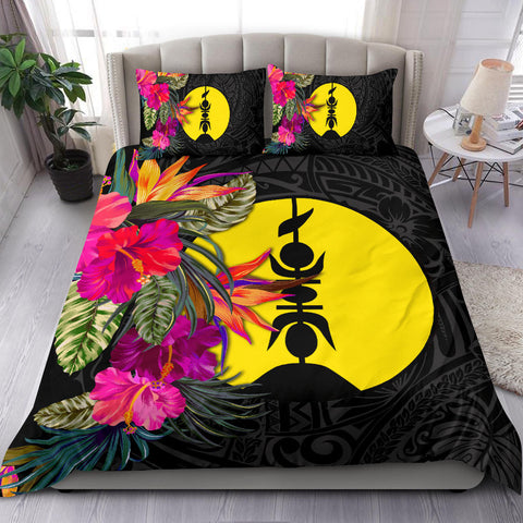 Image of New Caledonia Bedding Set - Polynesian Hibiscus Pattern