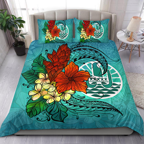 Tahiti Bedding Set - Tropical Flowers Style - BN01