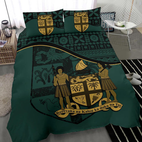 Image of Fiji Bedding Set Dark Green A24