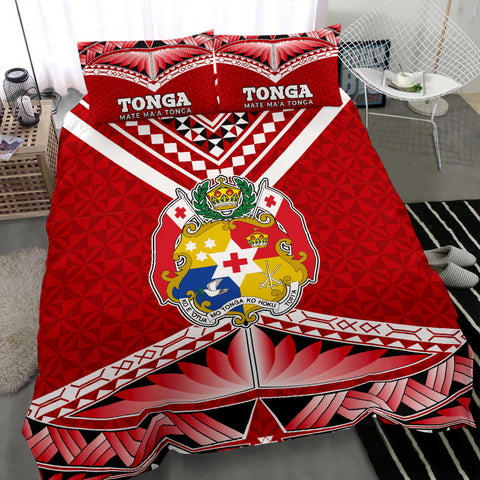 Image of Mate Ma'a Tonga Pattern Bedding Set - BN12