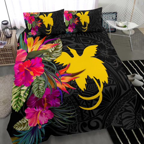 Image of Papua New Guinea Bedding Set - Hibiscus Polynesian Pattern