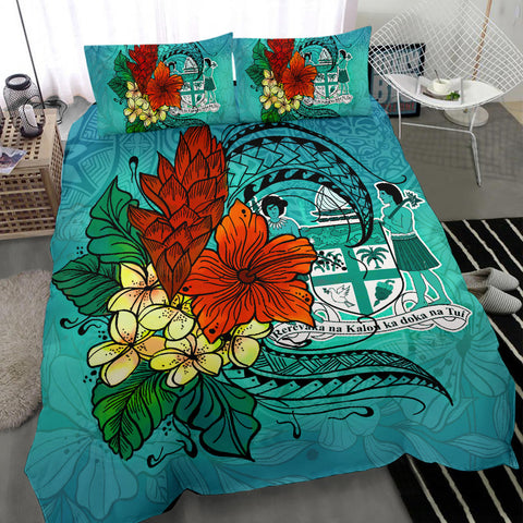 Image of Fiji Bedding Set - Tropical Flowers Style - BN01