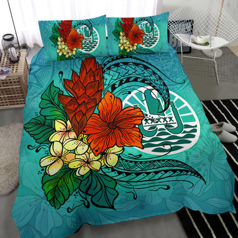 Image of Tahiti Bedding Set - Tropical Flowers Style - BN01