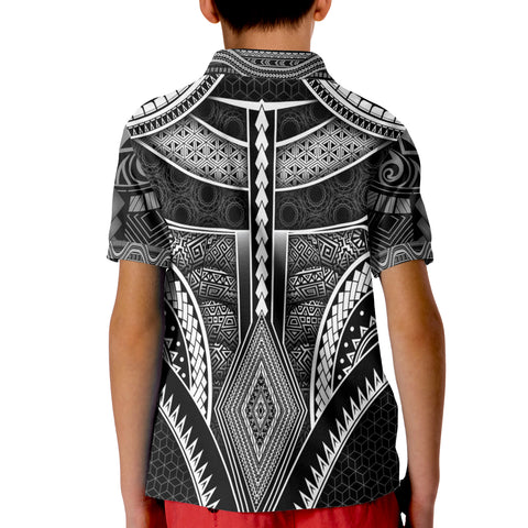 Polynesian Polo Shirt - American Samoa Coat Of Arm With Poly Patterns - BN17
