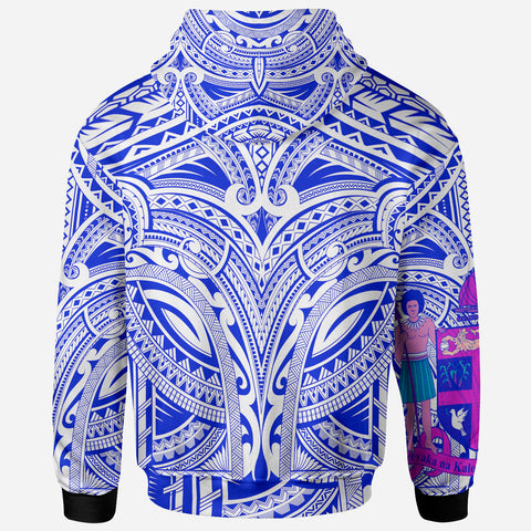 FiJi All Over Hoodie - FiJi Coat Of Arms (Blue) - BN17