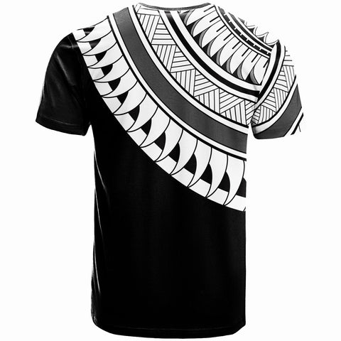 Tuvalu Custom Personalised  T- Shirt - Ginger Lei White Pattern - BN20