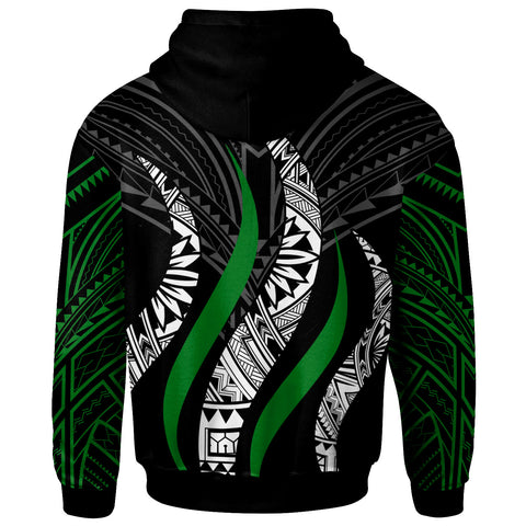 Fiji Custom Personalised Hoodie - Fiji Strong Fire Pattern - BN20