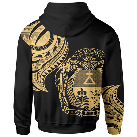 Nauru Zip Hoodie - Nauru Tatau Gold Patterns - BN01