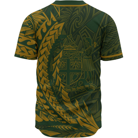 Fiji Baseball Shirt - Green Wings Style