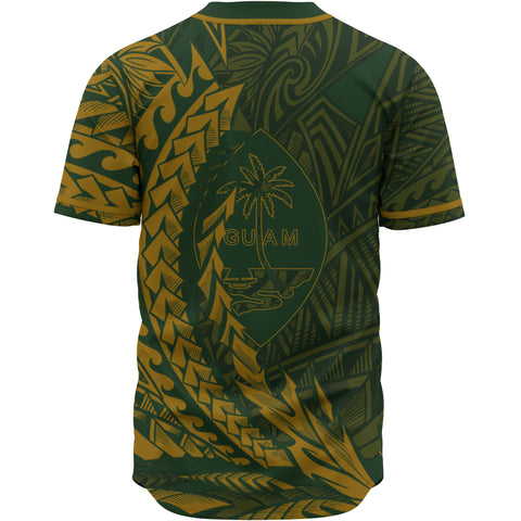 Guam Baseball Shirt - Green Wings Style