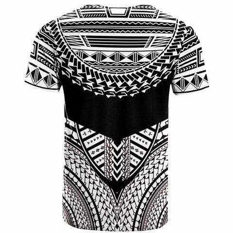 Tonga  T-Shirt - Tribal Pattern Cool Style White Color - BN20