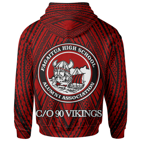 Image of   Samoa Zip Hoodie - Vikings Fagaitua High School Polynesian Patterns