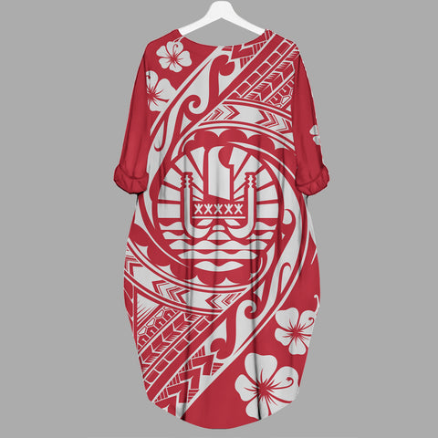 Image of Tahiti Batwing Pocket Dress - Tribal Tattoo Sleeve - BN29