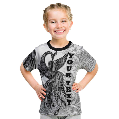 Image of Tonga Custom Personalised T-Shirt - Polynesian Phoenix Bird, Fairytales Bird Black - BN09