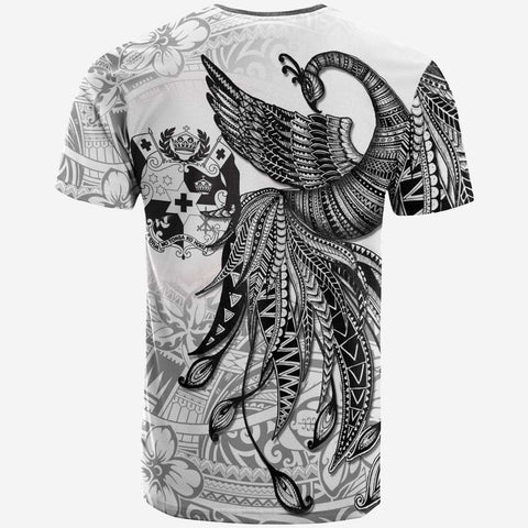 Tonga Custom Personalised T-Shirt - Polynesian Phoenix Bird, Fairytales Bird Black - BN09