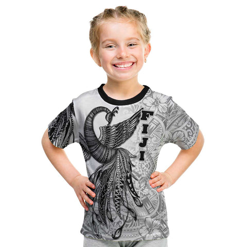 Image of Fiji T-Shirt - Polynesian Phoenix Bird, Fairytales Bird Black - BN09