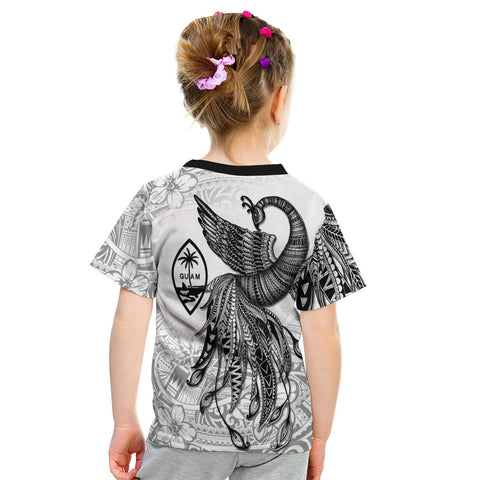 Guam T-Shirt - Polynesian Phoenix Bird, Fairytales Bird Black - BN09