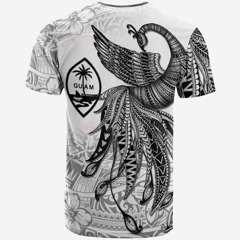 Image of Guam T-Shirt - Polynesian Phoenix Bird, Fairytales Bird Black - BN09