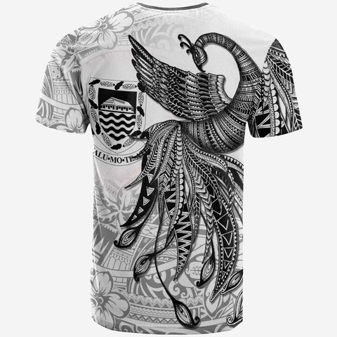 Tonga T-Shirt - Polynesian Phoenix Bird, Fairytales Bird Black - BN09