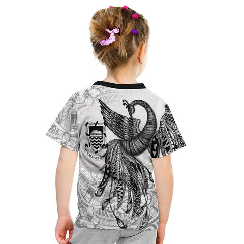 Image of Tonga T-Shirt - Polynesian Phoenix Bird, Fairytales Bird Black - BN09