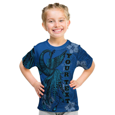Image of Guam Custom Personalised T-Shirt - Polynesian Phoenix Bird, Fairytales Bird Blue - BN09