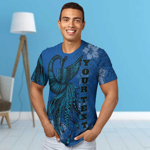 Image of Samoa Custom Personalised T-Shirt - Polynesian Phoenix Bird, Fairytales Bird Blue - BN09