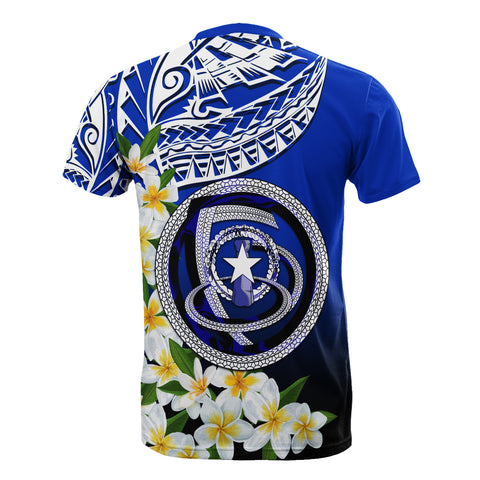 Image of Northern Mariana Islands T-Shirt - Polynesian Plumeria Pattern - BN39
