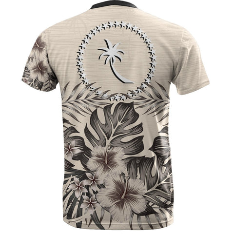 Chuuk T-Shirt The Beige Hibiscus Back