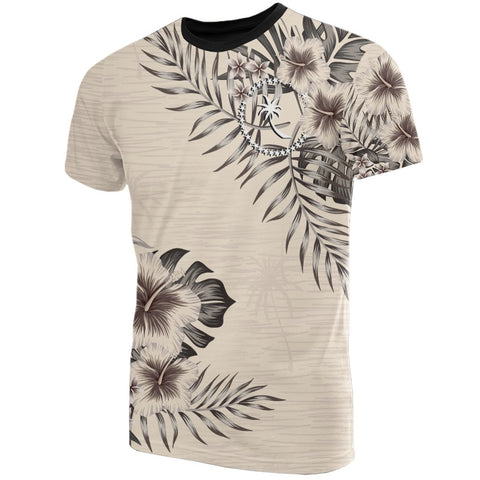 Chuuk T-Shirt The Beige Hibiscus Front