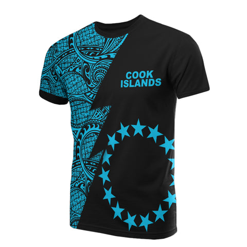 Cook Islands T-Shirt - Polynesian Pattern Neon Flash Style